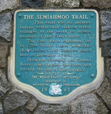 The Semiahmoo Trail Marker image. Click for full size.
