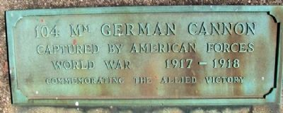 104mm German Cannon Marker image. Click for full size.