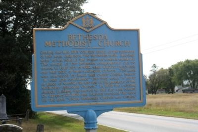 Bethesda Methodist Church Marker image. Click for full size.