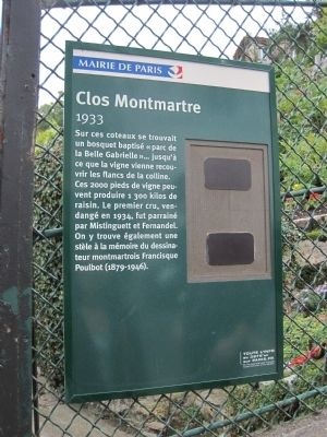 Clos Montmartre Marker image. Click for full size.