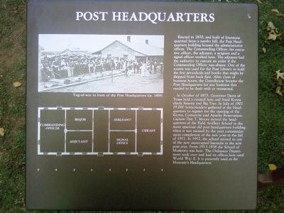 Post Headquarters Marker image. Click for full size.