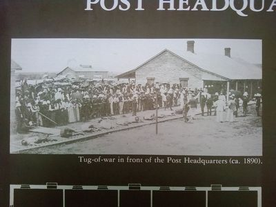 Post Headquarters Marker detail image. Click for full size.