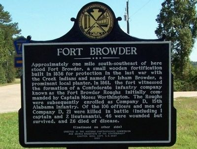 Fort Browder Marker image. Click for full size.