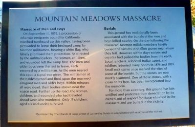 Mountain Meadows Massacre Marker image. Click for full size.