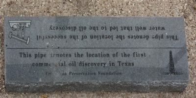 First Commercial Oil Discovery in Texas Marker image. Click for full size.