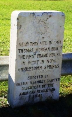 Thomas Morgan House Marker image. Click for full size.