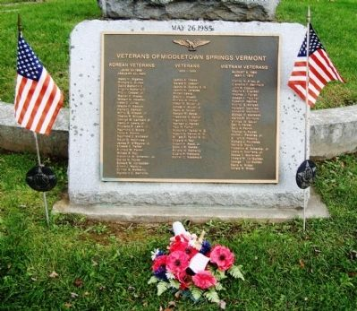 Other Veterans plaque in front of monument image. Click for full size.