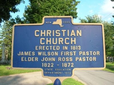 Christian Church Marker image. Click for full size.