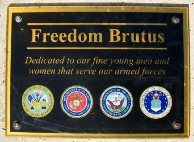 Freedom Brutus Dedication Marker Photo, Click for full size