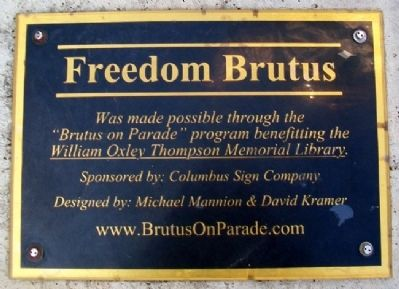 Freedom Brutus Sponsor Marker Photo, Click for full size