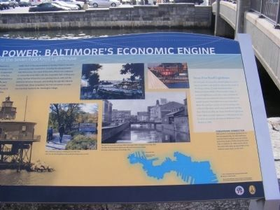 Water Power: Baltimore's Economic Engine Marker image. Click for full size.