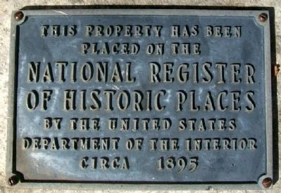 Plumb House NRHP Marker image. Click for full size.