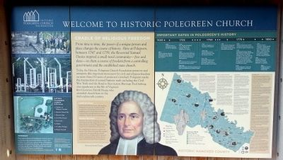 Welcome to Historic Polegreen Church Marker image. Click for full size.