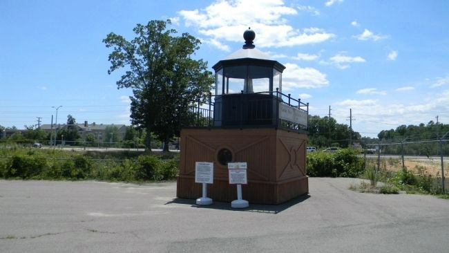 Cedar Point Lighthouse Cupola with marker panels in front image. Click for full size.