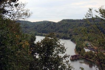 View of the Monongahela River from the gazebo the Friendship Hill National Historic site image. Click for full size.