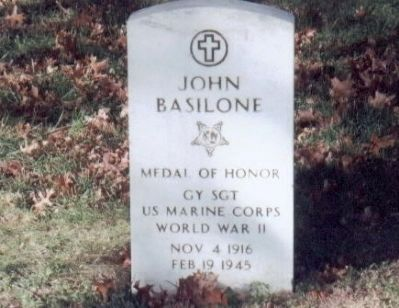 Basilone Memorial Bridge Marker image. Click for full size.
