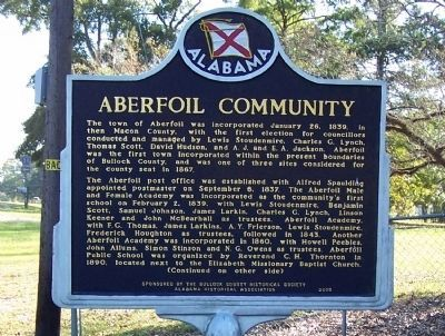 Aberfoil Community Marker, front image. Click for full size.