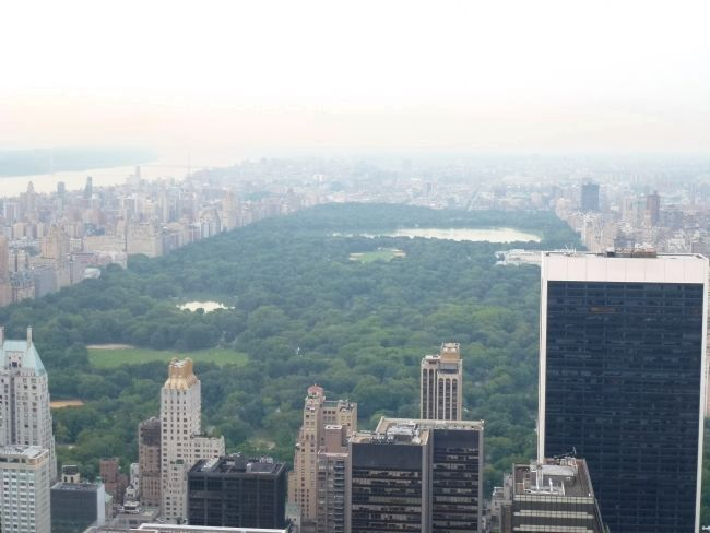 "View from the GE Building's ""Top of the Rock"" - northward, toward Central Park image. Click for full size."
