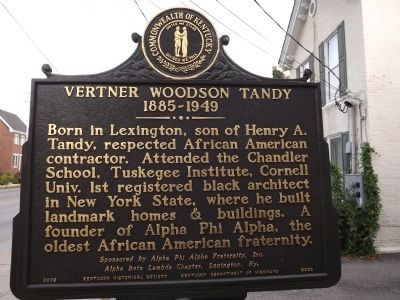 Vertner Woodson Tandy Marker image. Click for full size.