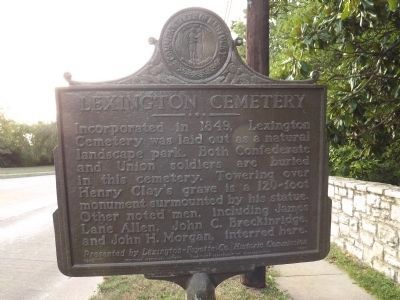 Lexington Cemetery Marker image. Click for full size.