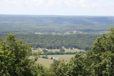 Scenic view from the west brow of Lookout Mountain in Mentone, Alabama. image. Click for full size.
