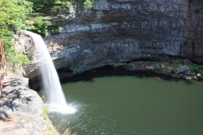 DeSoto Falls, a nearby natural landmark near Mentone. image. Click for full size.