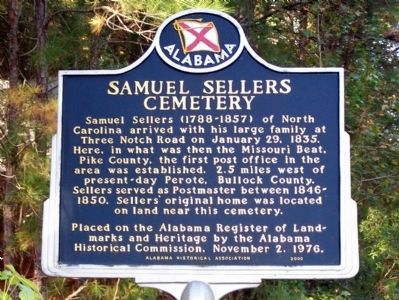 Samuel Sellers Cemetery Marker image. Click for full size.