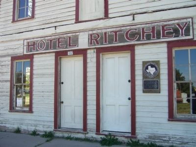 Ritchey Hotel Marker image. Click for full size.