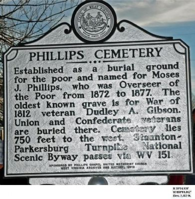 Phillips Cemetery Marker image. Click for full size.