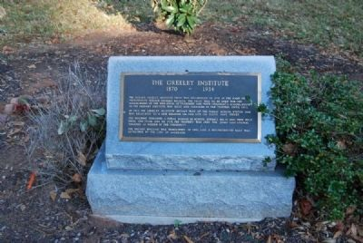 The Greeley Institute Marker image. Click for full size.