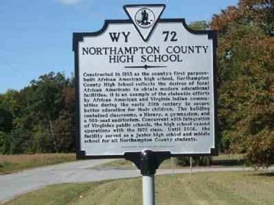 Northampton County High School Marker image. Click for full size.