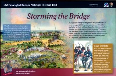 Storming the Bridge Marker image. Click for full size.