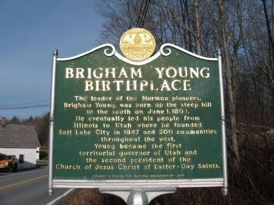 Brigham Young Birthplace Marker image. Click for full size.