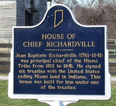 House of Chief Richardville Marker image. Click for full size.