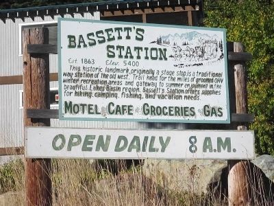 Sign at the Entrance to Bassett Station image. Click for full size.