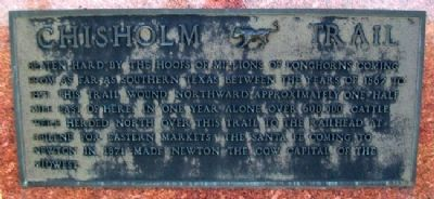 Pioneer Trails - Chisholm Trail Marker image. Click for full size.
