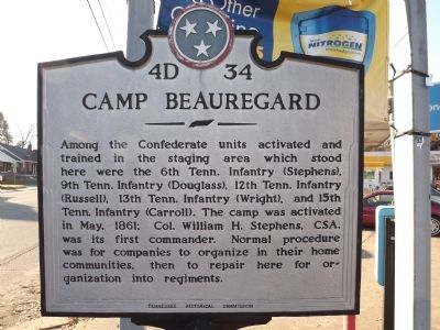 Camp Beauregard Marker image. Click for full size.