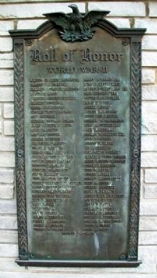 War Memorial World War II Honor Roll image. Click for full size.
