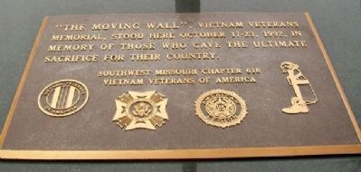 "Vietnam Memorial For Casualties From Missouri ""Moving Wall"" Marker image. Click for full size."