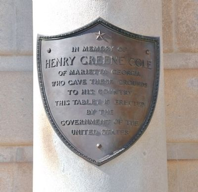 Henry Greene Cole Dedication Plaque image. Click for full size.