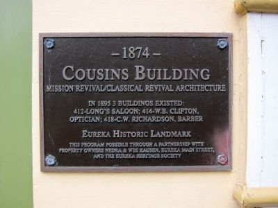 The Cousins Building Marker Photo, Click for full size