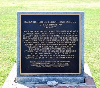 Ballard-Hudson Senior High School Marker image. Click for full size.