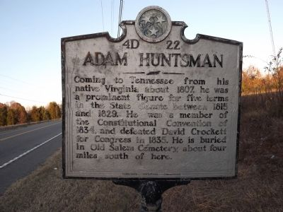 Adam Huntsman Marker image. Click for full size.