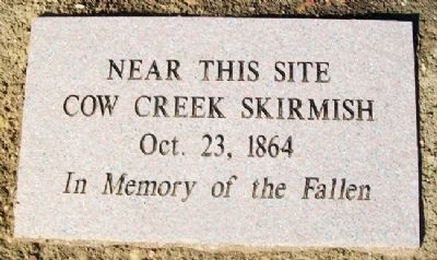 Cow Creek Skirmish Marker image. Click for full size.