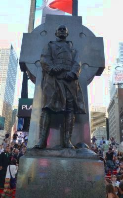 Monument to Father Duffy, south face - in Duffy Square image. Click for full size.