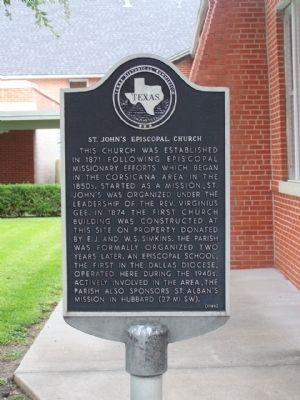 St. John's Episcopal Church Marker Photo, Click for full size
