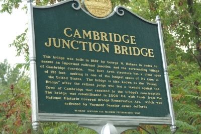 Cambridge Junction Bridge Marker image. Click for full size.