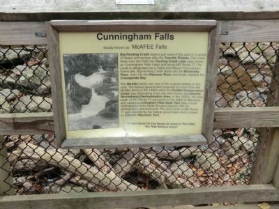 Cunningham Falls Marker Photo, Click for full size