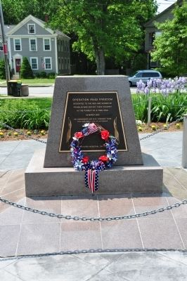 Operation Iraqi Freedom Memorial Marker image. Click for full size.