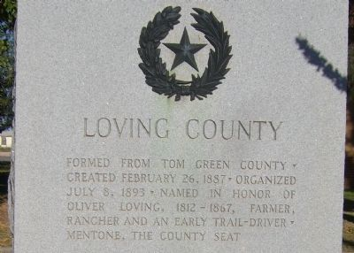 Loving County Marker image. Click for full size.